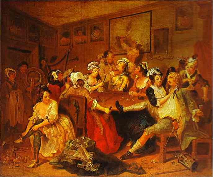 William Hogarth. The Tavern Scene.