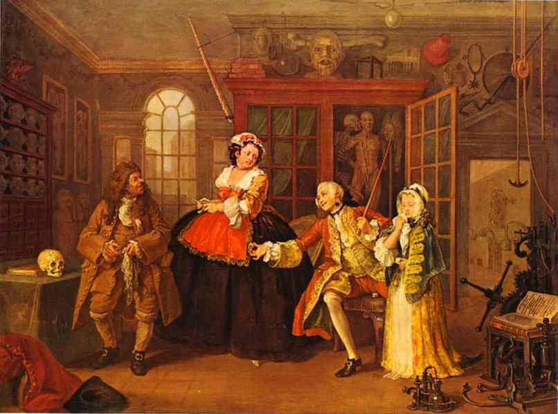 William Hogarth.The Visit to the Quack Doctor.