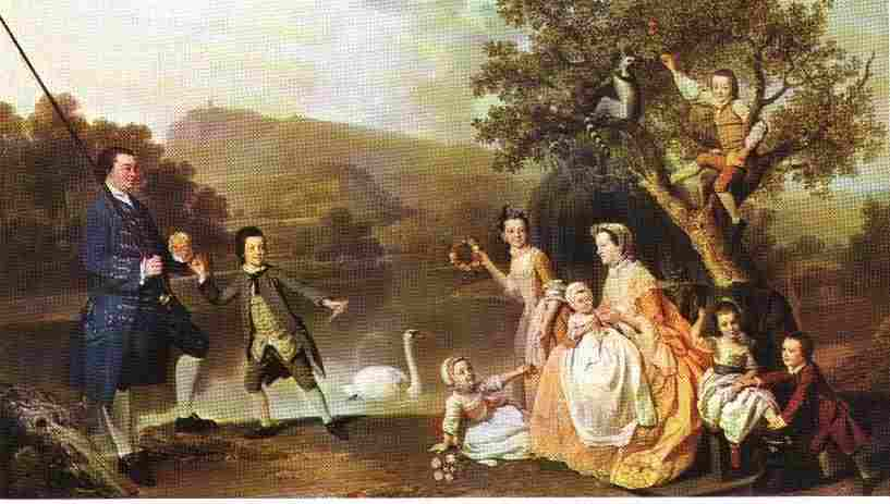 3rd Duke of Atholl and family by Johann Zoffany