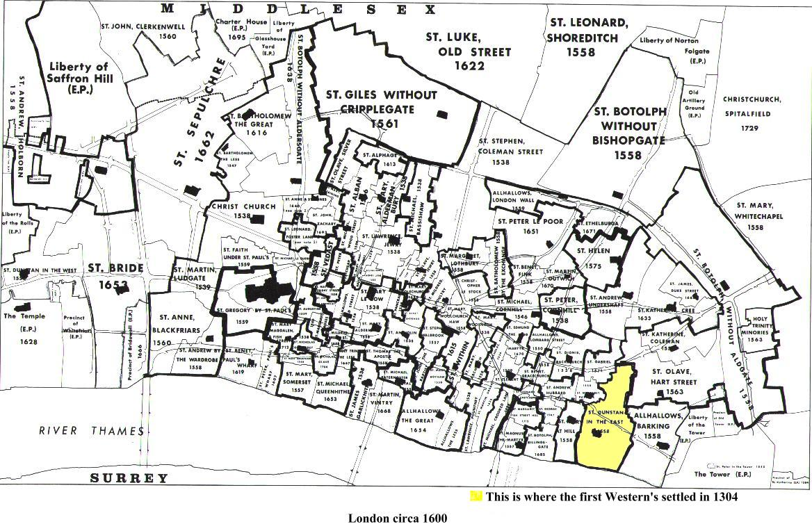Map Of London 1600.London Circa 1600